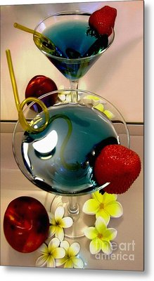 Cocktail By The Spa Metal Print by Kaye Menner