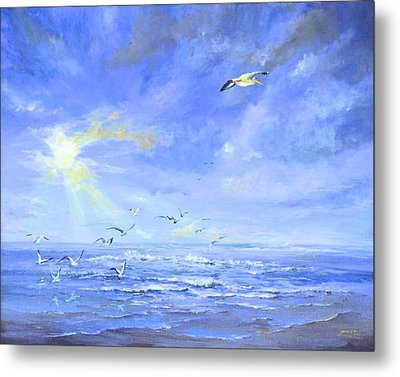 Cocoa Beach Birds Metal Print
