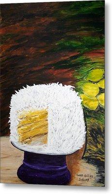 Coconut Cake Metal Print