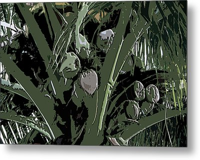 Metal Print featuring the digital art Coconut Palms by Karen Nicholson