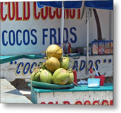 Metal Print featuring the photograph Coconuts - Mazatlan by Cheryl Del Toro