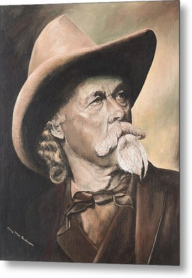 Metal Print featuring the painting Cody - Western Gentleman by Mary Ellen Anderson