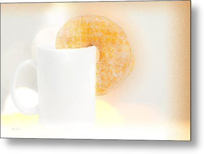 Coffee And Donuts Two Metal Print