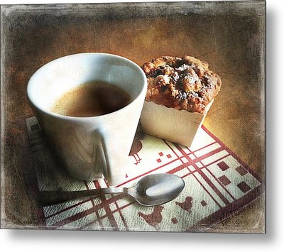Coffee And Muffin Metal Print by Barbara Orenya