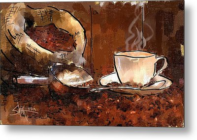 Coffee Beans Metal Print by Robert Smith