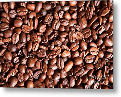 Coffee Beans  Metal Print by Sharon Dominick
