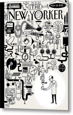 Coffee Break Metal Print by Christoph Niemann