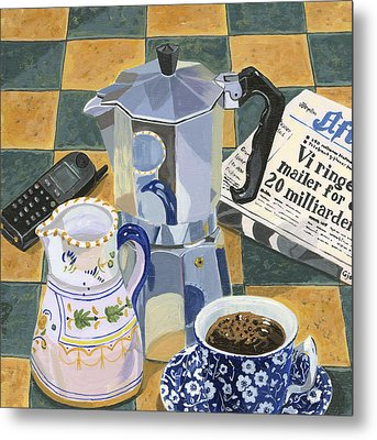 Coffee Break Metal Print by Jane Dunn Borresen