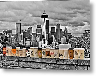 Coffee Capital Metal Print by Benjamin Yeager
