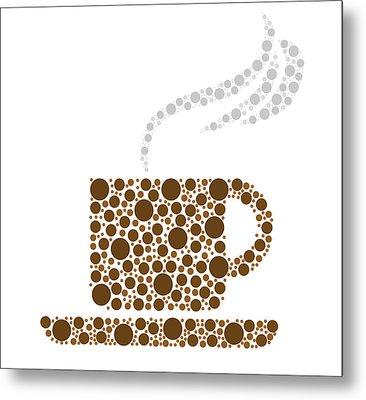 Coffee Cup Metal Print by Aged Pixel