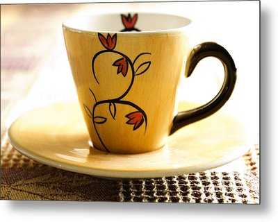 Coffee Cup Metal Print by Blink Images