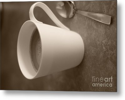 Coffee Cup Metal Print by Bobby Mandal
