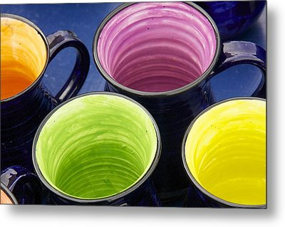 Coffee Mugs Metal Print by Stuart Litoff