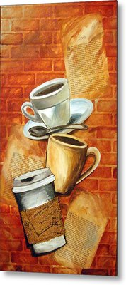 Coffee Over Shannara Metal Print by Annette Redman