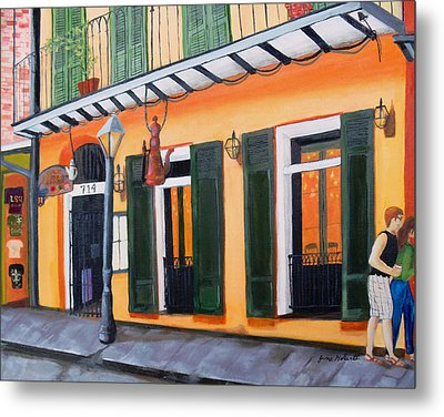 Coffee Pot Restaurant-french Quarter Metal Print