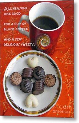 Metal Print featuring the photograph Coffee Season by Ausra Huntington nee Paulauskaite