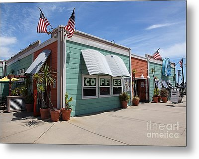 Coffee Shop At The Municipal Wharf At Santa Cruz Beach Boardwalk California 5d23833 Metal Print by Wingsdomain Art and Photography