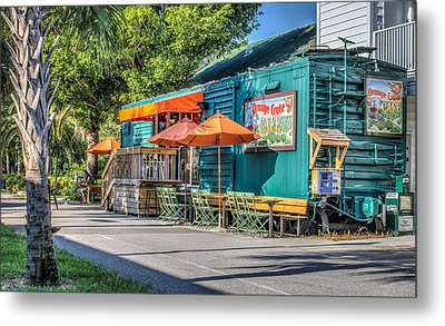 Coffee Shop Metal Print