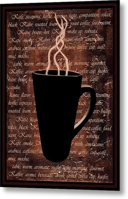 Coffee Time Metal Print by Barbara St Jean