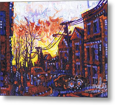 Coffee Time Sunset Metal Print by Michael Ciccotello