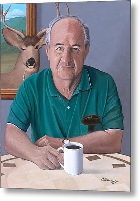 Coffee With Bob Friend Of Nature Metal Print