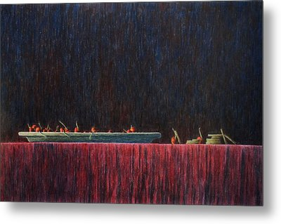 Metal Print featuring the painting Coffer by A  Robert Malcom
