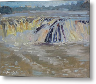Cohoes Falls Metal Print by Len Stomski
