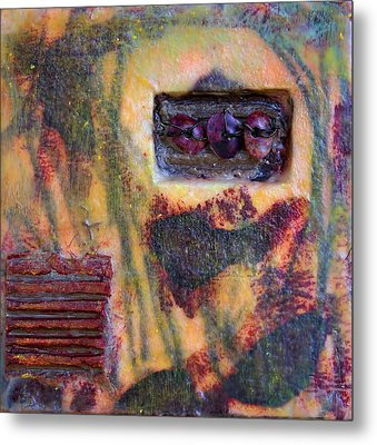 Coin Of The Realm Encaustic Metal Print by Bellesouth Studio