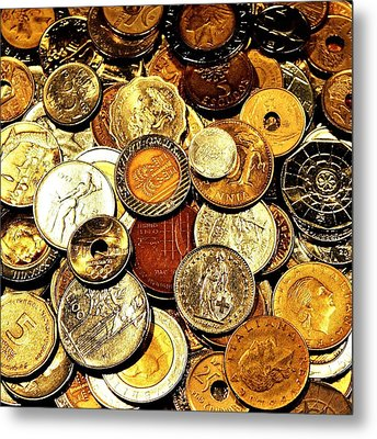 Coinage Metal Print by Benjamin Yeager