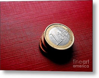 Coins Euro Metal Print by Michal Bednarek