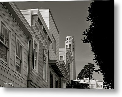 Coit Tower Metal Print by Alex King