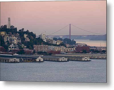 Coit Tower Sits Prominently On Top Of Telegraph Hill In San Francisco Metal Print by Scott Lenhart