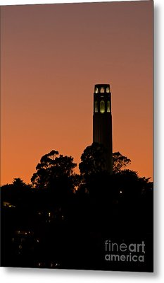 Metal Print featuring the photograph Coit Tower Sunset by Kate Brown