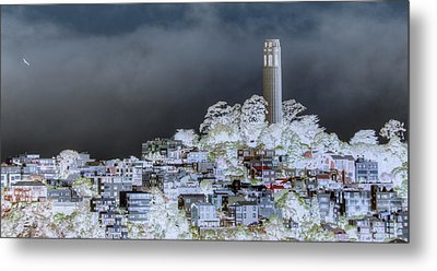 Coit Tower Surreal Metal Print by Diego Re