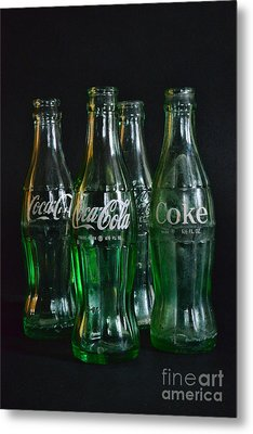 Coke Bottles From The 1950s Metal Print