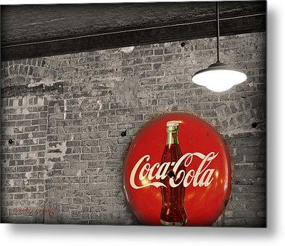 Coke Cola Sign Metal Print by Paulette B Wright