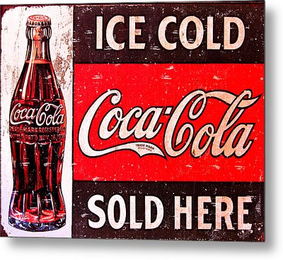 Coke Metal Print by Reid Callaway