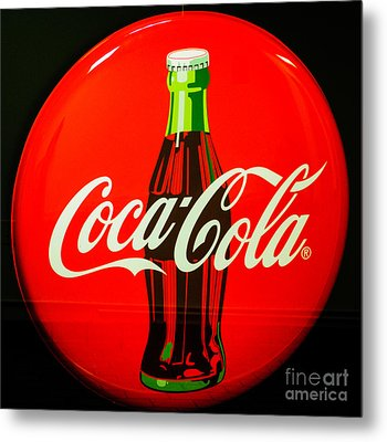 Coke Top Metal Print