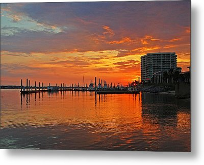 Metal Print featuring the digital art Colbalt Morning by Michael Thomas