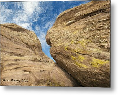 Metal Print featuring the painting Colby's Cliff by Bruce Nutting