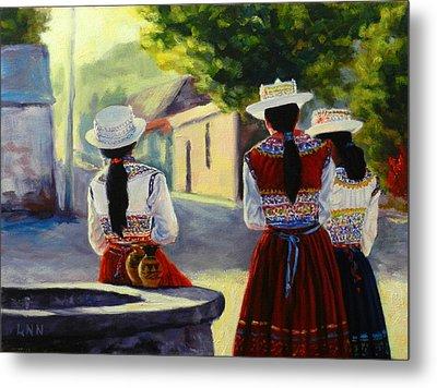 Colca Valley Ladies, Peru Impression Metal Print