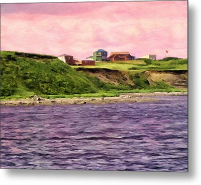 Cold Bay From The Dock Metal Print