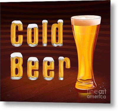 Cold Beer Metal Print by Bedros Awak