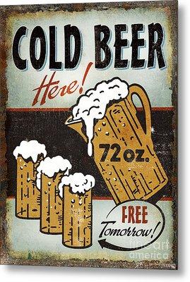 Cold Beer Metal Print by JQ Licensing