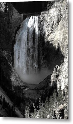 Metal Print featuring the photograph Cold Cascade  by David Andersen