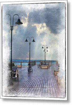 Cold Day In Monterey Metal Print