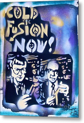 Cold Fusion Now Blue Metal Print by Tony B Conscious