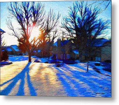 Cold Morning Sun Metal Print by Jeff Kolker