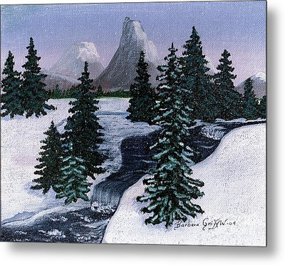Cold Mountain Brook Metal Print by Barbara Griffin