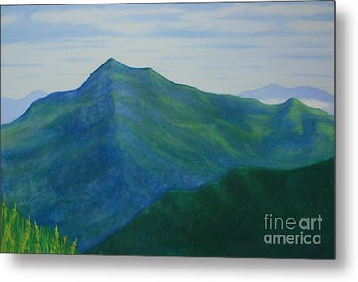 Metal Print featuring the painting Cold Mountain by Stacy C Bottoms